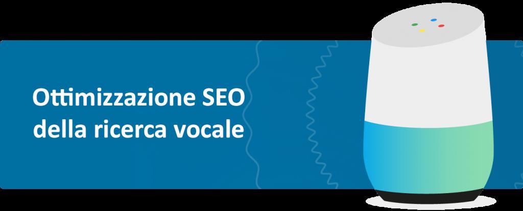 immagine che descrive ottimizzazione per la ricerca vocale facendo vedere google home