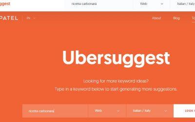 Come funziona Ubersuggest e perchè è importante per strutturare contenuti?