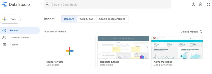 Report Google Data Studio